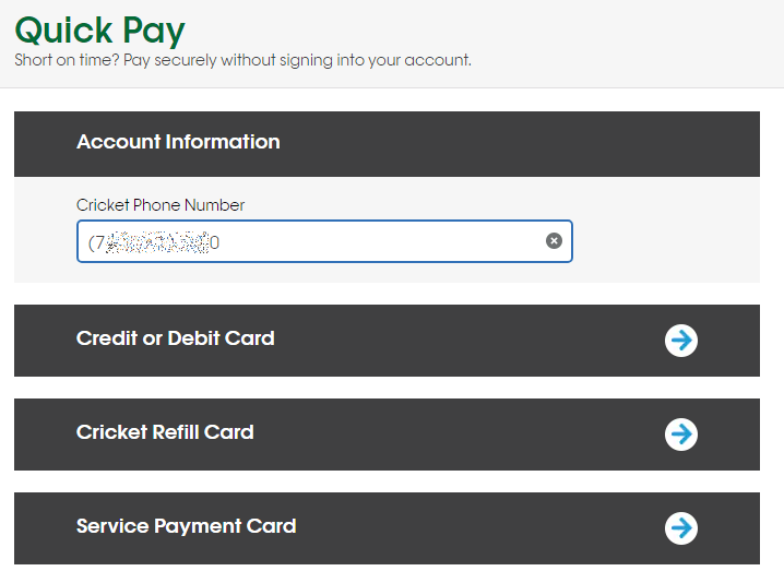 Cricket Quick Pay
